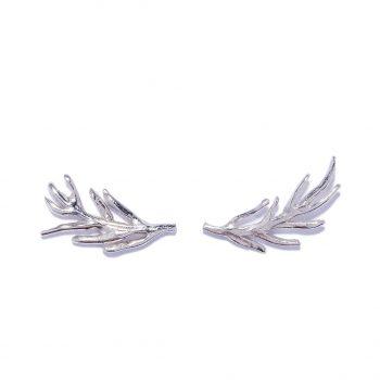 White Rhodium Earrings, Hand made jewelry