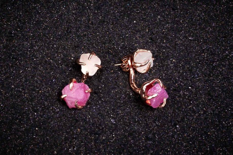 Rose_gold_earrings_spinel-white_topaz