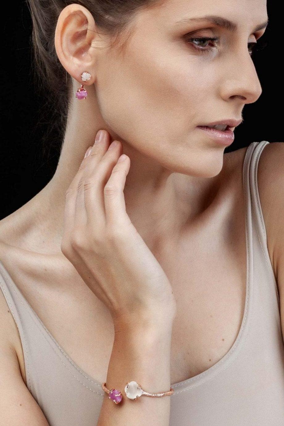 Rose_gold_earrings_spinel_white_topaz