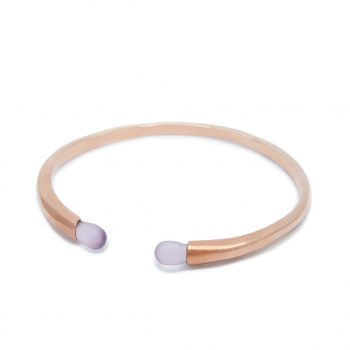Rainy Rose Gold Cuff in Pink Amethyst