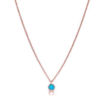 Moon, Rose Gold, Turquoise