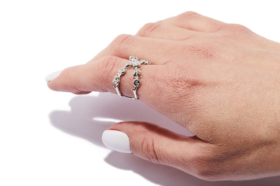 White Rhodium, Silver, Ring, One Size