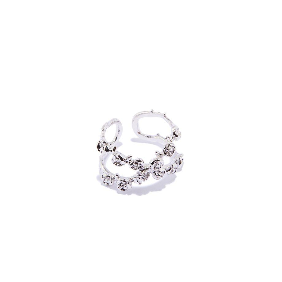 White Rhodium Ring, One Size Ring, Silver Ring