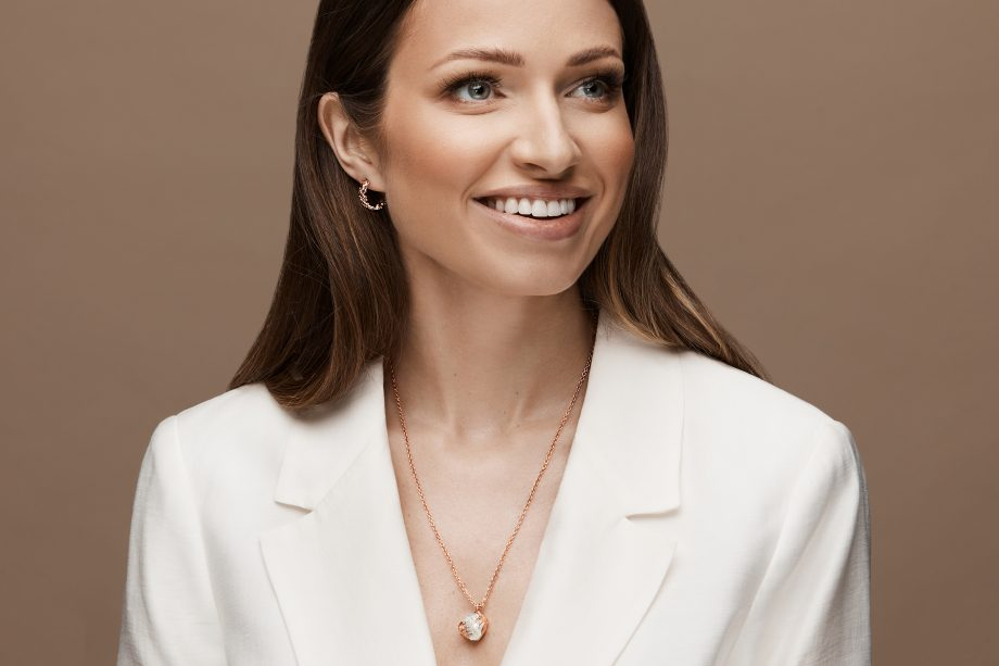 Rose Gold, Earrings, Necklace