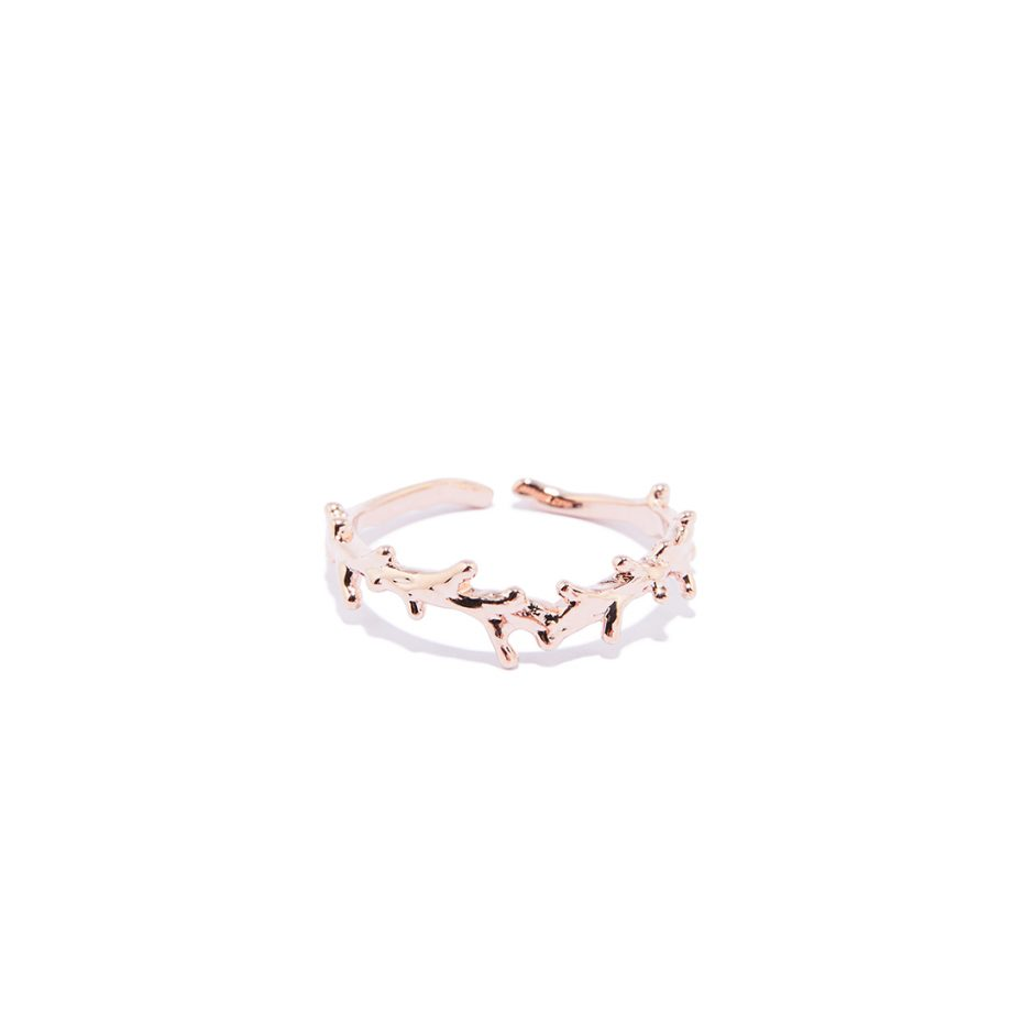 Rose Gold, One Size Ring, Handmade Ring