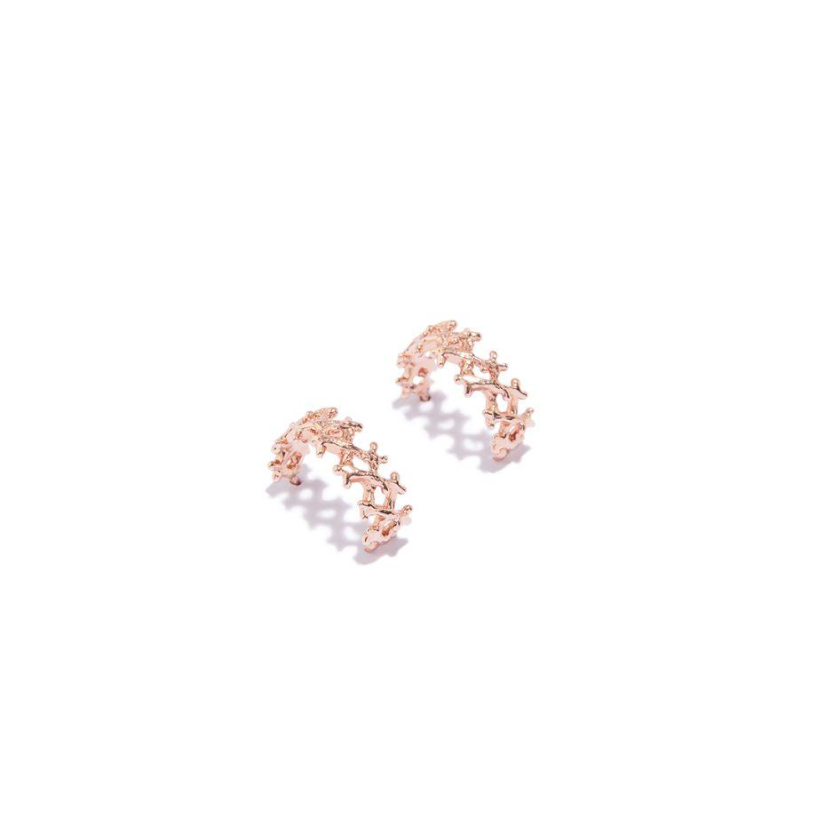 Rose Gold, Earrings, huggie, handmade jewlery