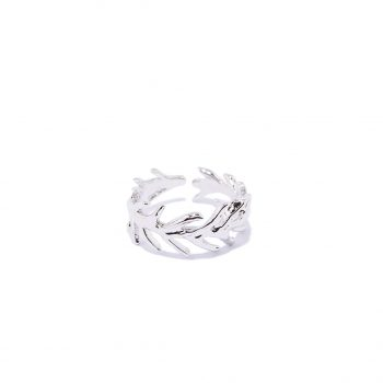 White Rhodium Ring, Silver Ring, One size Ring, Handmade jewelry